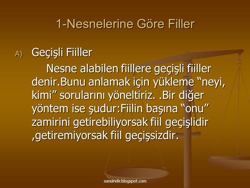 sunuindir.blogspot.com -Belirtili ya da belirtisiz nesne alabilen fiillerdir.