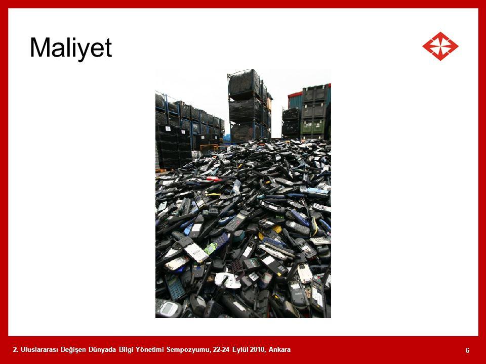 Maliyet 2. Uluslararası Değişen Dünyada Bilgi Yönetimi Sempozyumu, 22-24 Eylül 2010, Ankara 6
