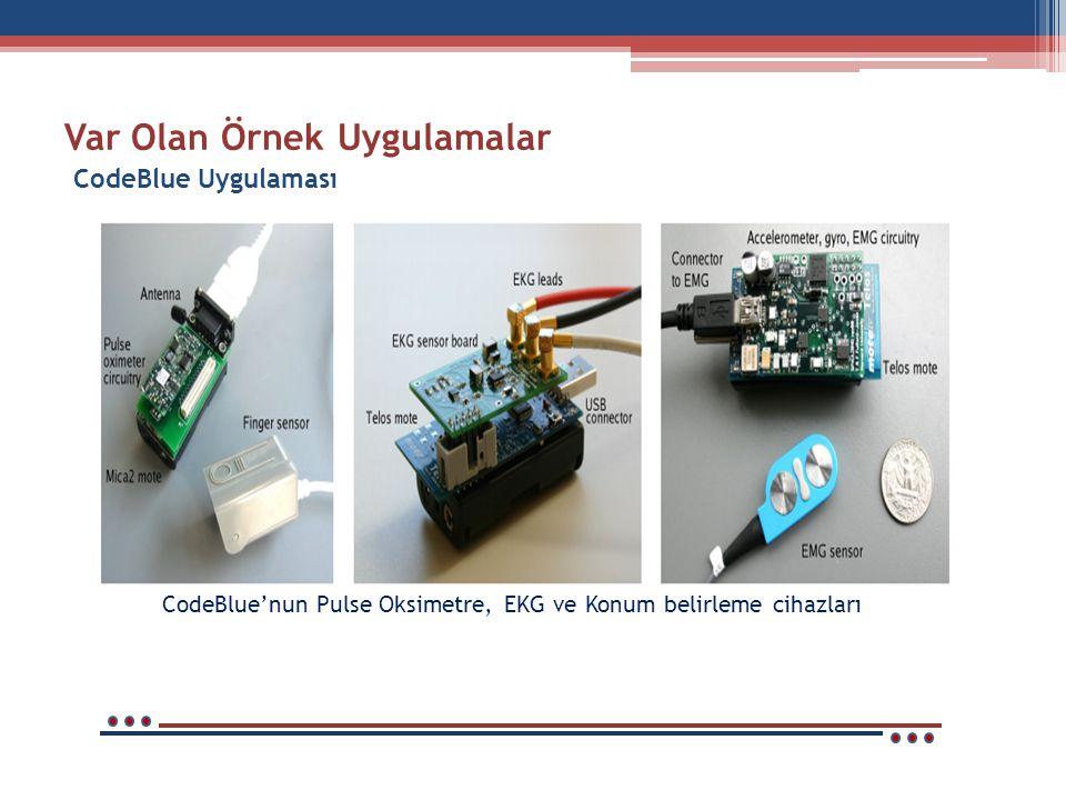 Var Olan Örnek Uygulamalar CodeBlue'nun Arayüzü CodeBlue'nun Ekran Görüntüsü