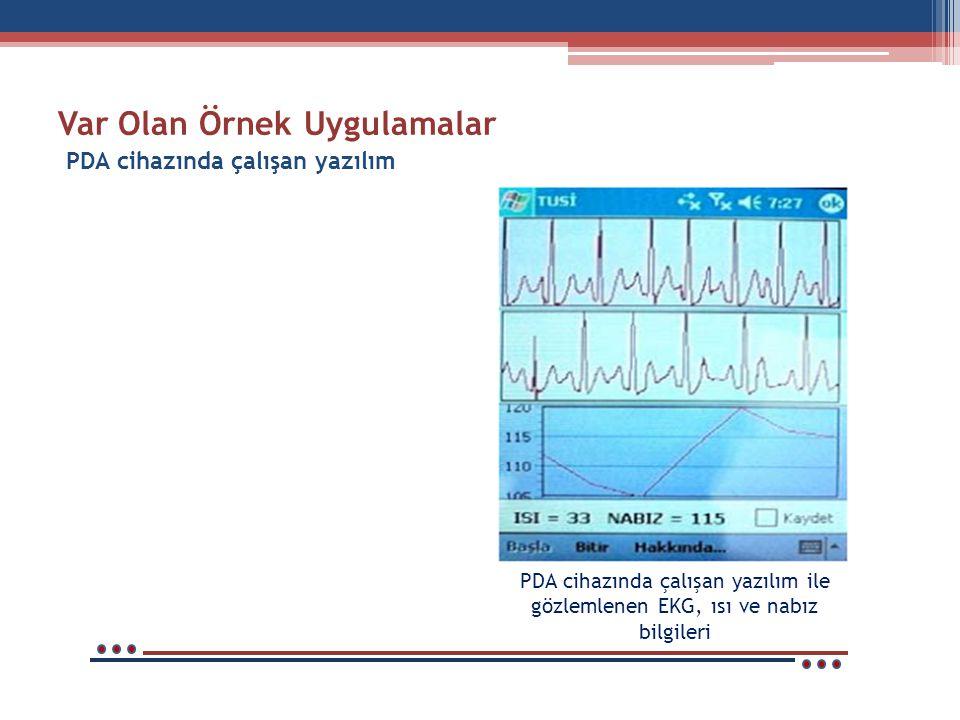 Var Olan Örnek Uygulamalar Konum belirleme sisteminde (GPS) kullanılması Ambulans ekibinin kullanacağı PDA yazılımı