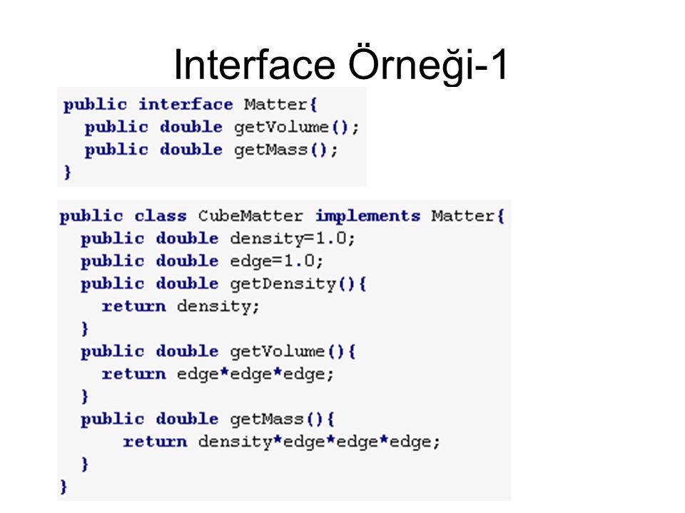 Interface Örneği-1