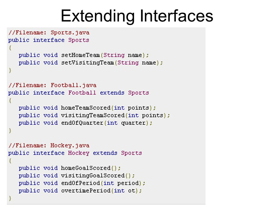 Extending Interfaces