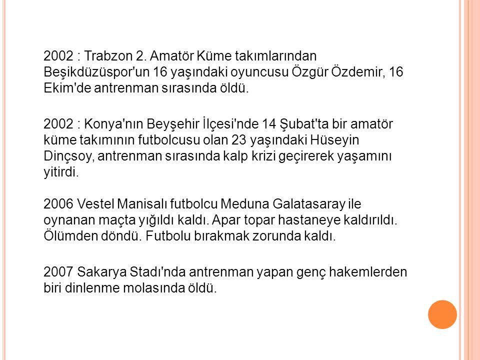 2002 : Trabzon 2.