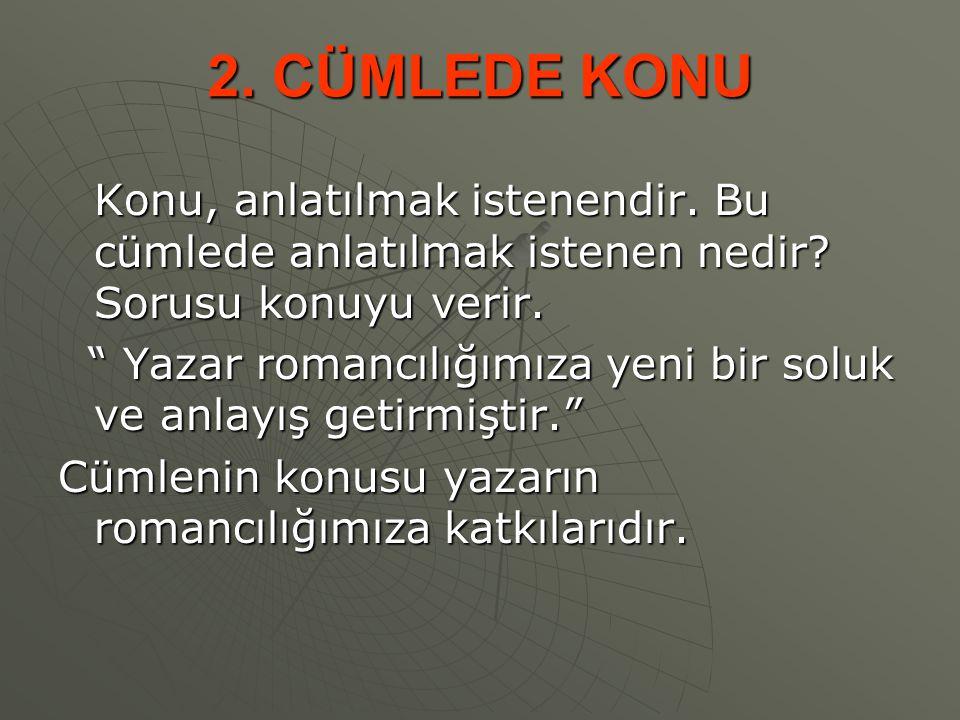 7.CÜMLE TÜRLERİ 1.