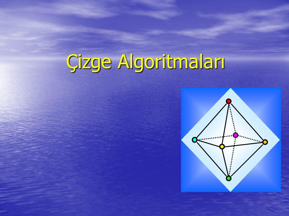 Çizge Algoritmaları Çizge Algoritmaları