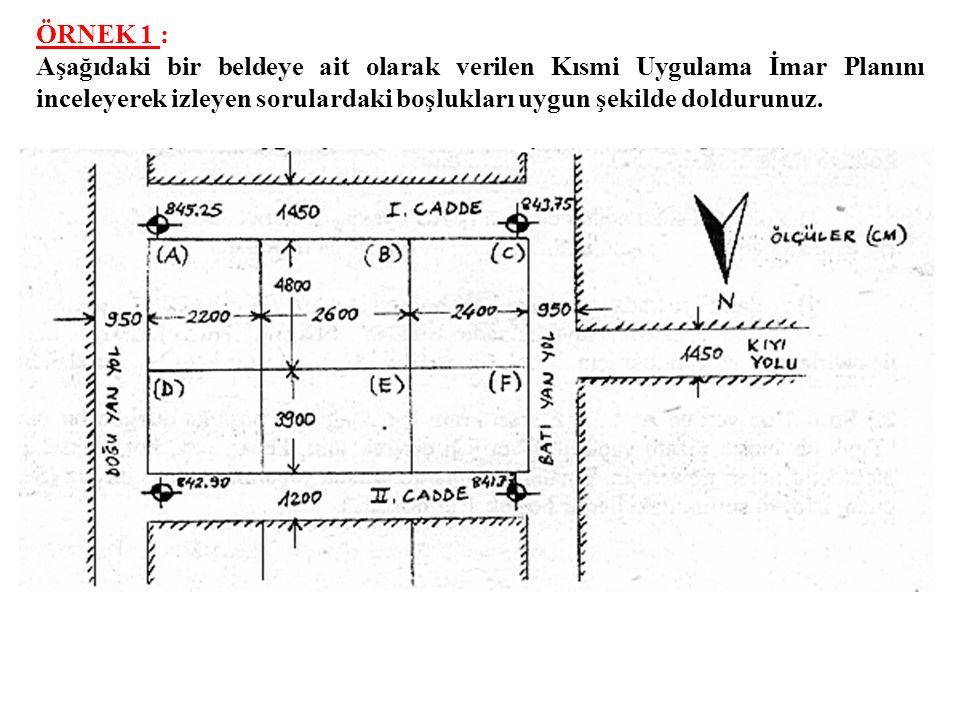 İMAR ALAN, ADA, PARSEL KULLANIMI SAYISAL UYGULAMA ÖRNEKLERİ İMAR HUKUKU (Tek. Seç. III) 151417629, 151437629 Slayt XVIII