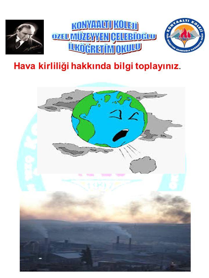 Hava kirliliği hakkında bilgi toplayınız.
