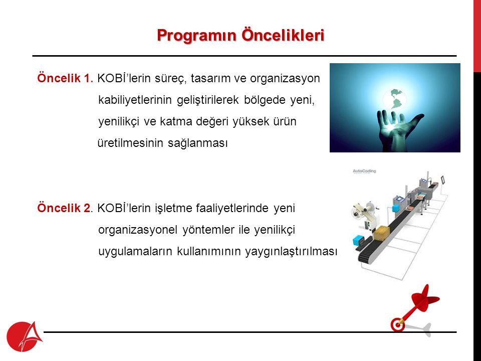 Programın Öncelikleri Öncelik 3.