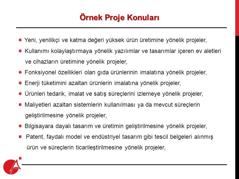 Proje Süresi ve Yeri Proje Süresi : Proje Süresi : En fazla 12 ay Proje Yeri : Proje Yeri : TR72 Düzey 2 Bölgesi'nde (Kayseri, Sivas ve Yozgat).