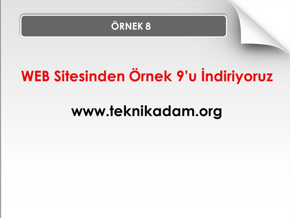 ÖRNEK 8 WEB Sitesinden Örnek 9'u İndiriyoruz www.teknikadam.org