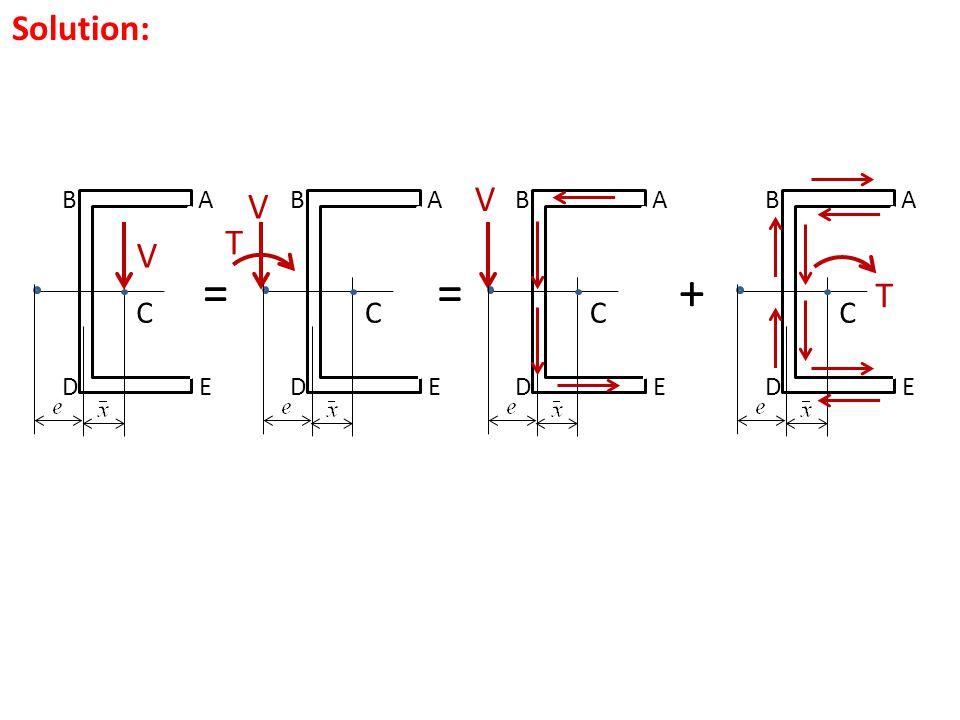 Solution: V A C B ED = V A C B ED = T V A C B ED A C B ED + T