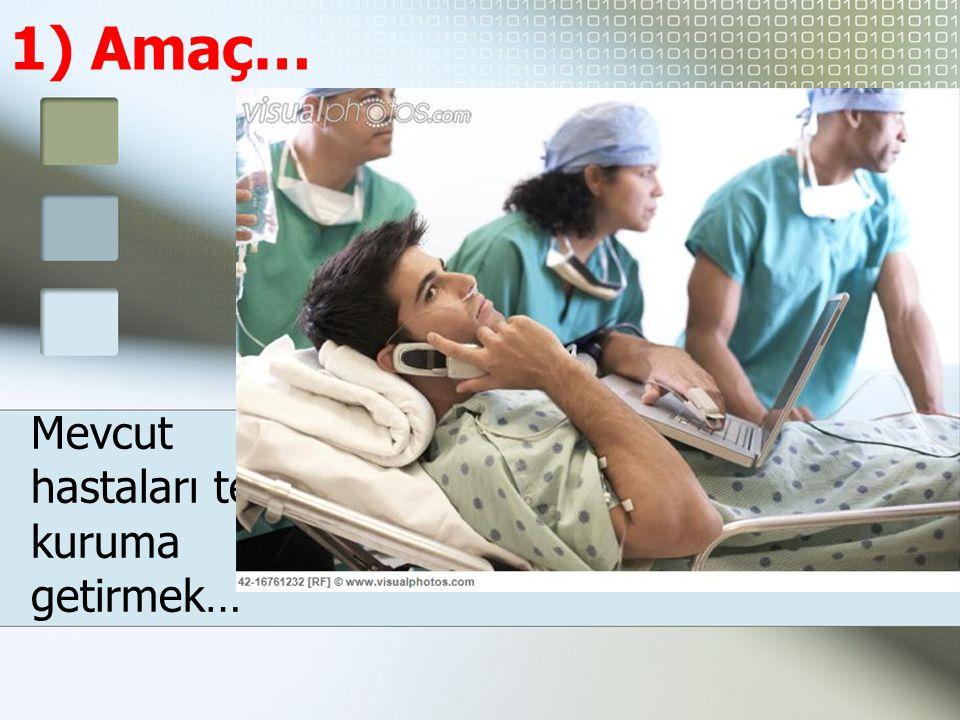 1) Amaç… Mevcut hastaları tekrar kuruma getirmek…