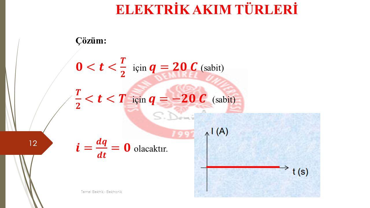 12 ELEKTRİK AKIM TÜRLERİ Temel Elektrik - Elektronik