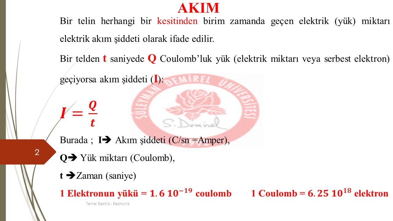 3 AKIM Temel Elektrik - Elektronik