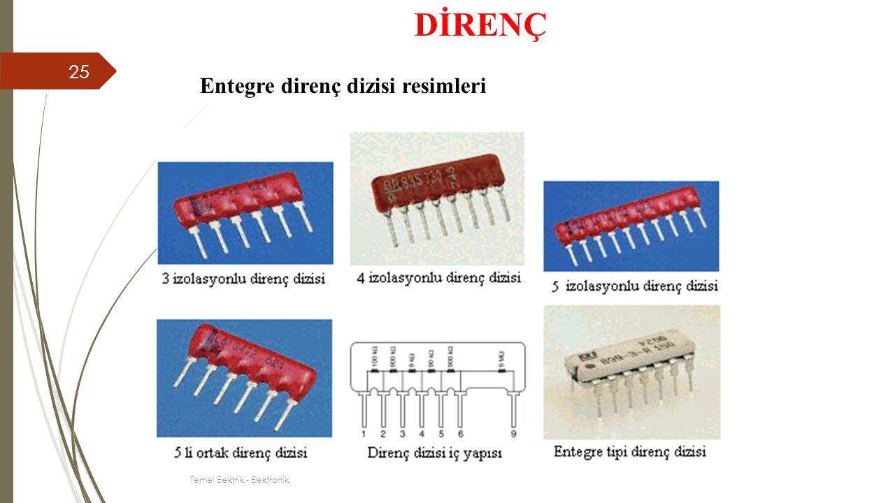 Entegre direnç dizisi resimleri DİRENÇ 25 Temel Elektrik - Elektronik