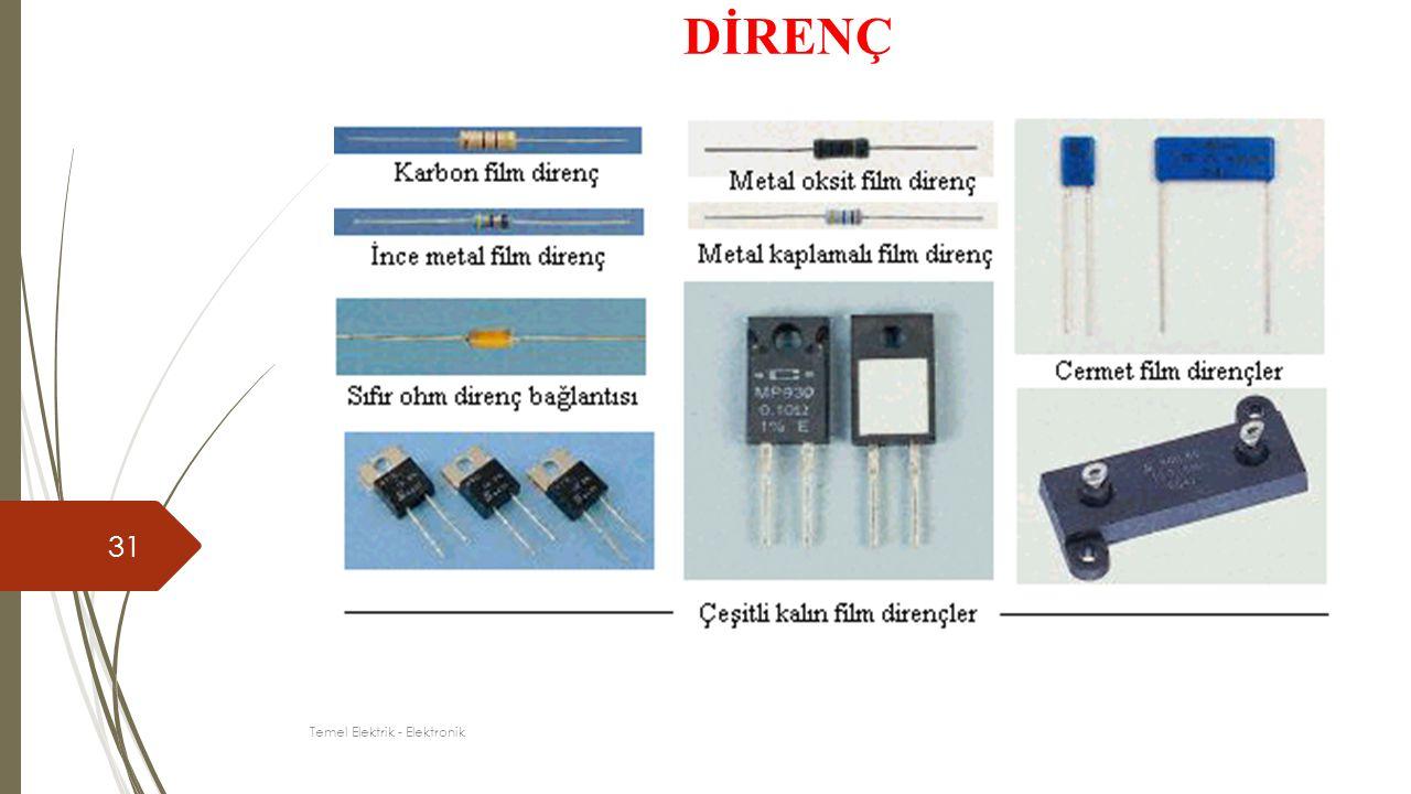 31 DİRENÇ Temel Elektrik - Elektronik