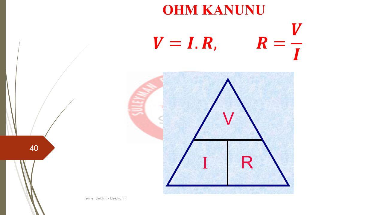 40 OHM KANUNU Temel Elektrik - Elektronik