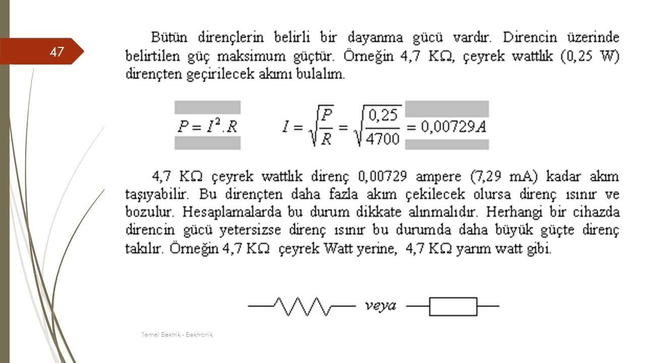 47 Temel Elektrik - Elektronik