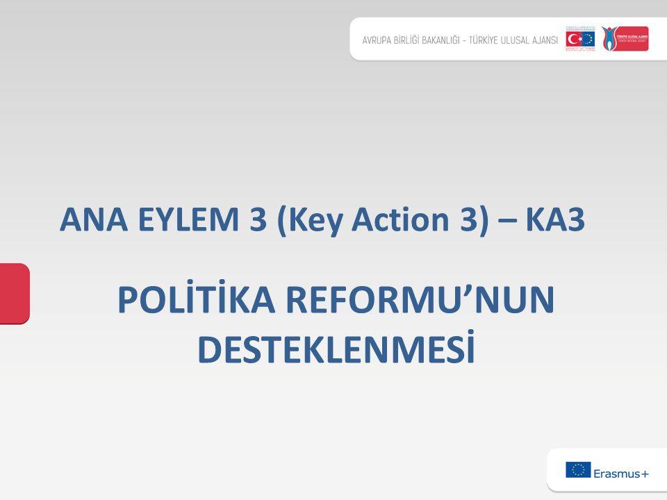 POLİTİKA REFORMU'NUN DESTEKLENMESİ ANA EYLEM 3 (Key Action 3) – KA3