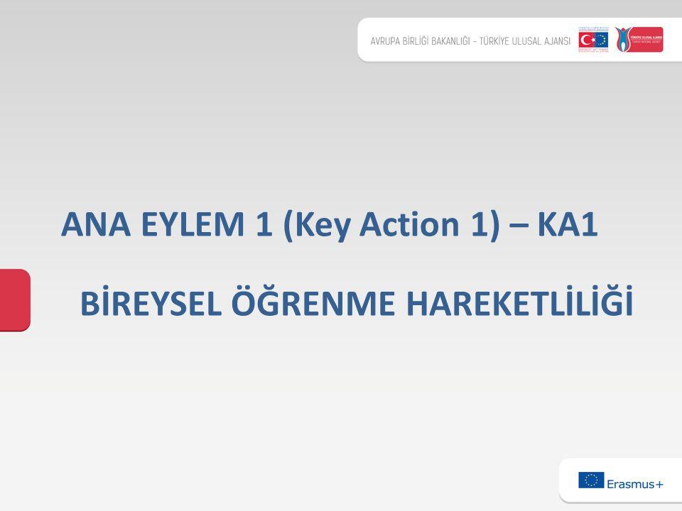 BİREYSEL ÖĞRENME HAREKETLİLİĞİ ANA EYLEM 1 (Key Action 1) – KA1