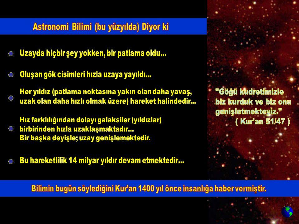 (Galaksiler uzayda gruplar halinde bulunurlar) Her galaksi grubu ( ve içindekiler ) çizgisel hareket halindedir.