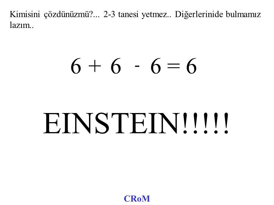 111 = 6 222 = 6 333 = 6 444 = 6 555 = 6 6 6 6 = 6 777 = 6 888 = 6 999 = 6 CRoM