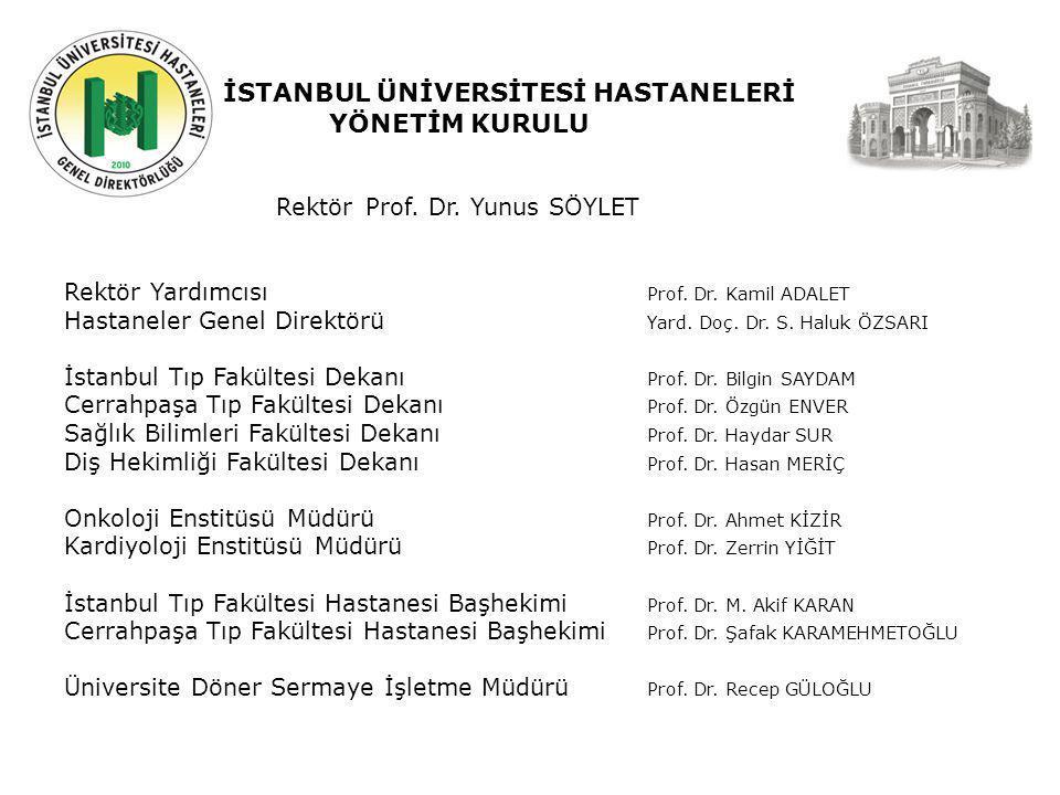 Geçmiş Şuan Gelecek İSTANBUL ÜNİVERSİTESİ HASTANELERİ YÖNETİM KURULU Rektör Prof.