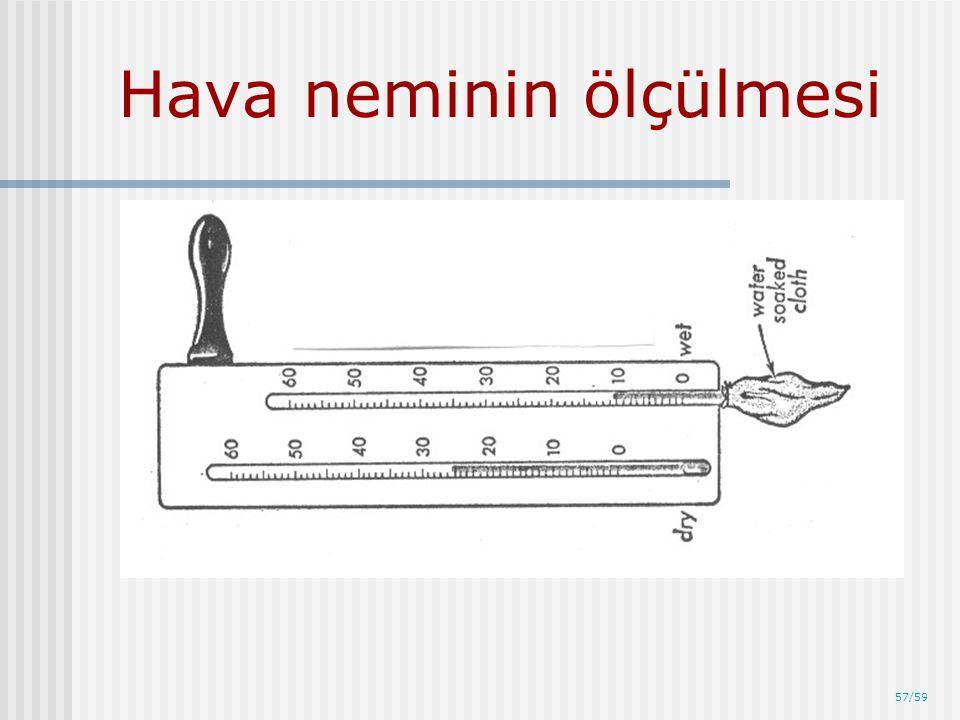 57/59 Hava neminin ölçülmesi
