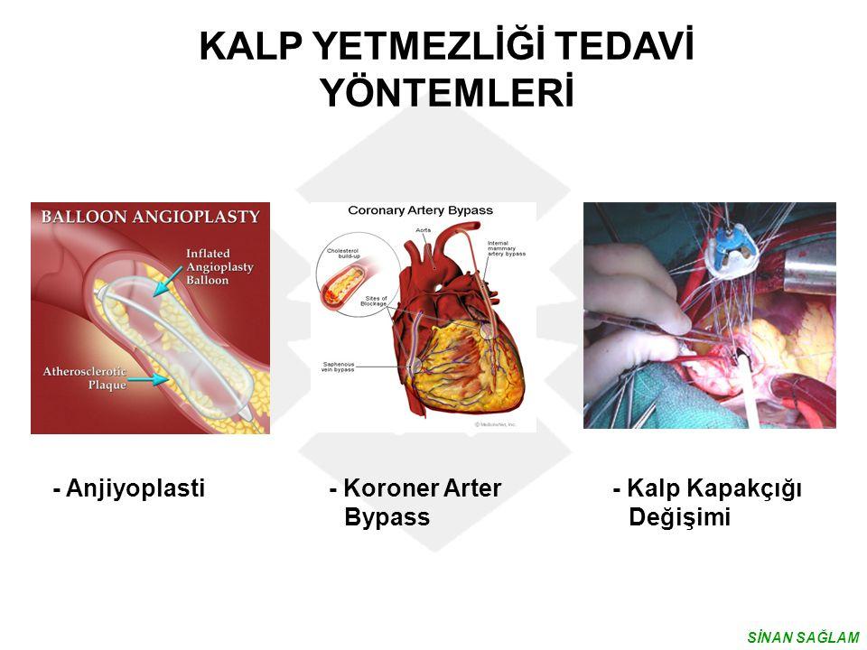 - Anjiyoplasti - Koroner Arter - Kalp Kapakçığı Bypass Değişimi KALP YETMEZLİĞİ TEDAVİ YÖNTEMLERİ SİNAN SAĞLAM