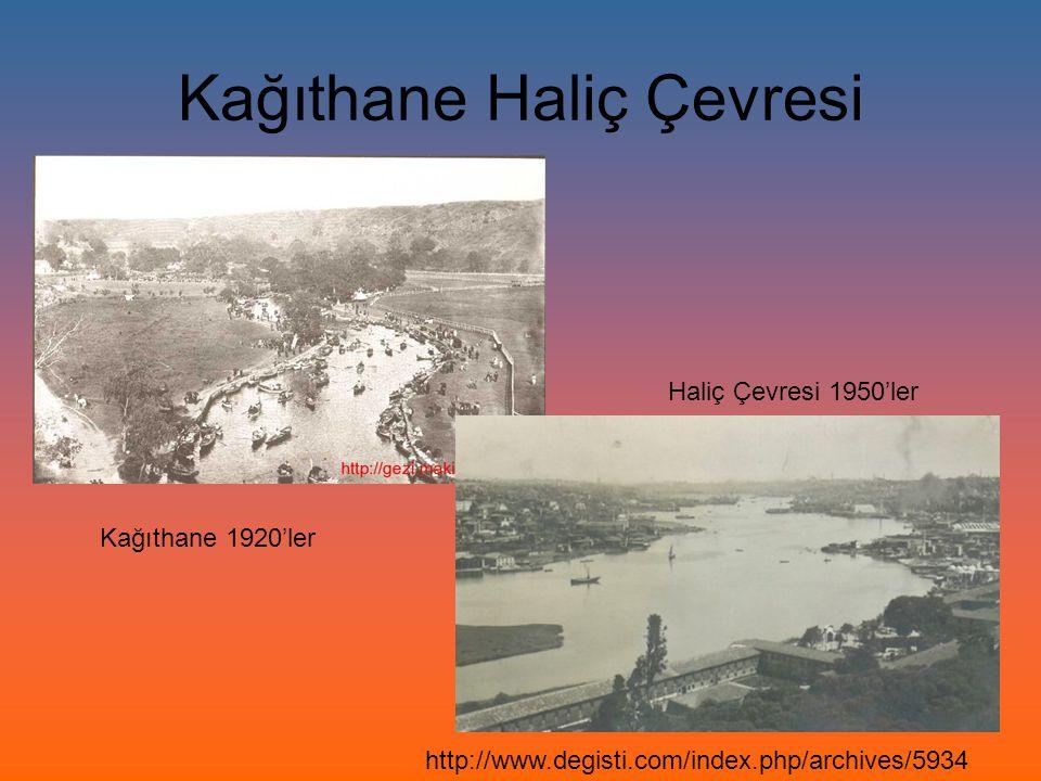 Kağıthane Haliç Çevresi Kağıthane 1920'ler Haliç Çevresi 1950'ler http://www.degisti.com/index.php/archives/5934