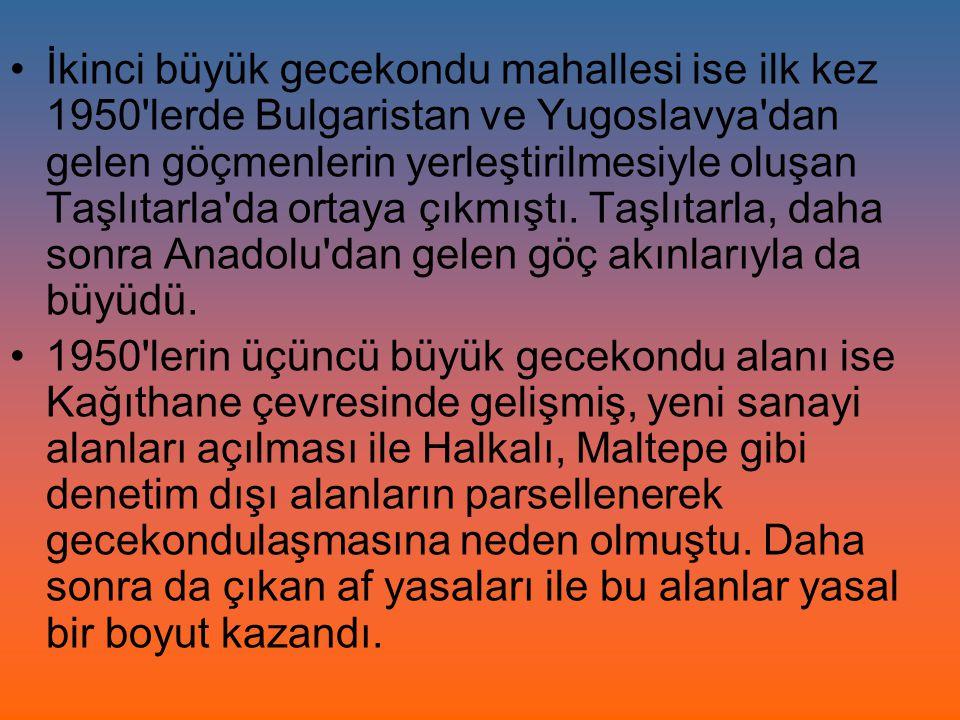 1965 te Kat Mülkiyeti Kanunu nun çıkmasıyla İstanbul un kentsel alanındaki arsaların değeri büyük artış gösterdi.