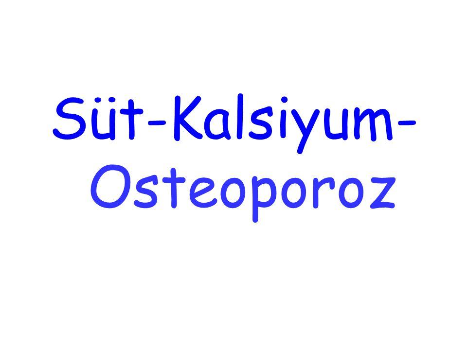 Süt-Kalsiyum- Osteoporoz