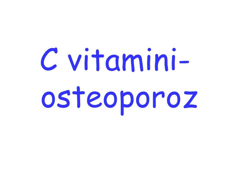 C vitamini- osteoporoz