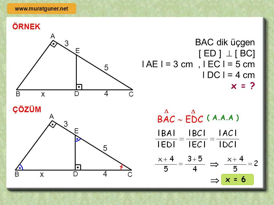 ÖRNEK ÇÖZÜM 1999 ABC  DEF ise   A B C D E F 40  30    + 40  = 60  + 50  A B C D E F 40  30  ABC  DEF ise  kaç derecedir?   Şekilde ver