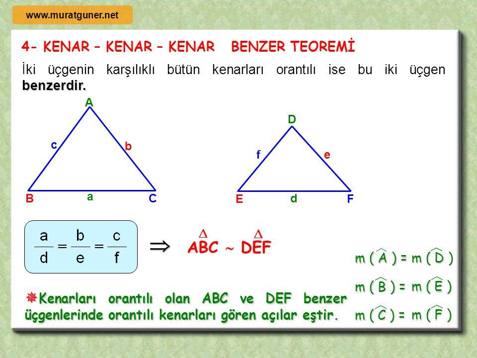 ÖRNEK B D A C [ AB ] // [ CD ], l AB l = 2 cm l AC l = 3 cm l BC l = 4 cm l CD l = 8 cm old. göre l BDl = x = ? 2 3 4 8 x   ÇÖZÜM m( ABC ) = m( BCD