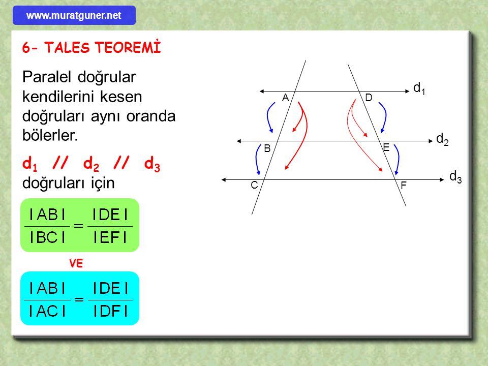ÖRNEK ÇÖZÜM [ DF ] // [ BE ]  ( T.B.T )  [ DE ] // [ BC ]  A B C D E F 4 x [ DF ] // [ BE ], [ DE ] // [ BC ] l AF l = 4 cm, l AD l= 2l BD l old. g
