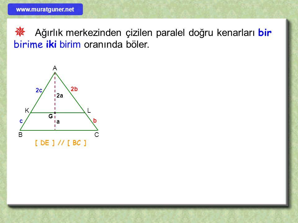 1996 ÖRNEK ÇÖZÜM ABCD bir yamuk [ EF ] orta tabandır. Şekildeki AEK üçgeninin alanı 4 cm 2, CKF üçgeninin alanı 8 cm 2 olduğuna göre, ABCD yamuğunun a