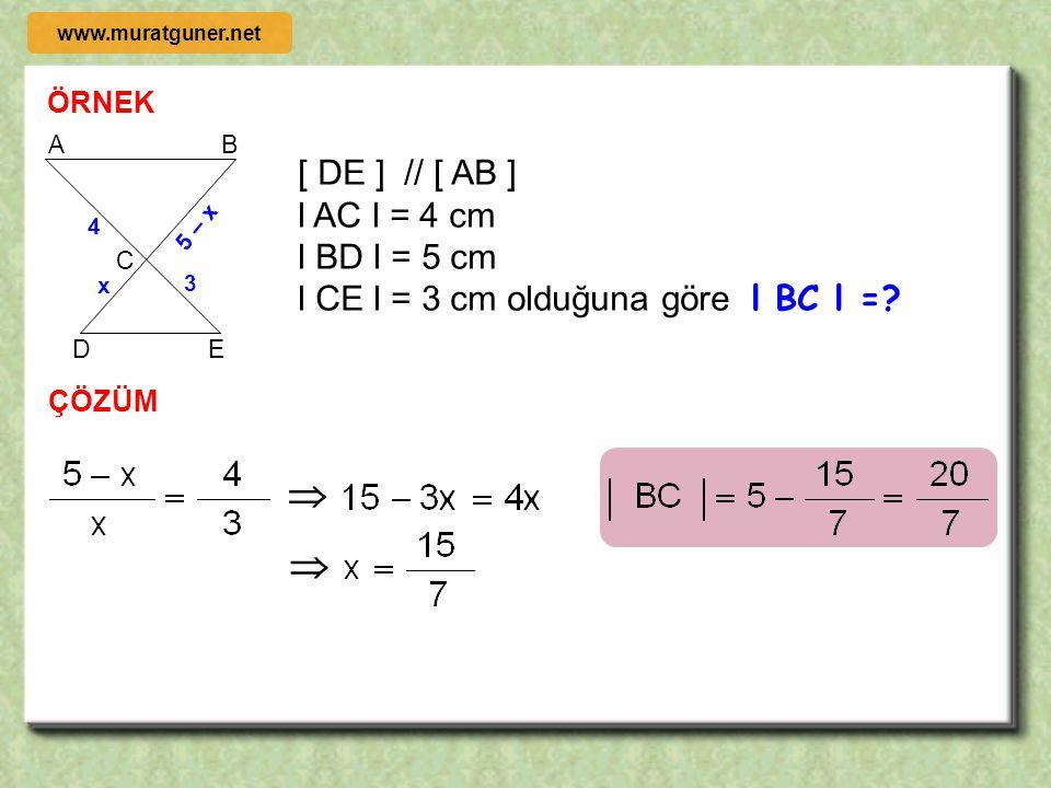  A B C E D ABC  EDC    [ AB ] // [ DE ] www.muratguner.net