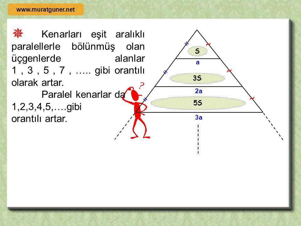 1996 ÖRNEK ÇÖZÜM [ AB ] // [ TE ] l EF l = l FT l, l BD l = 24 cm l FC l = 10 cm olduğuna göre l DF l = x =? D A BC E F T x 10 24 θ θ   ACB  TCF 