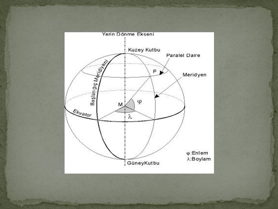 Yerküre etrafında doğudan batıya uzanan çizgiler paralel çizgilerdir.