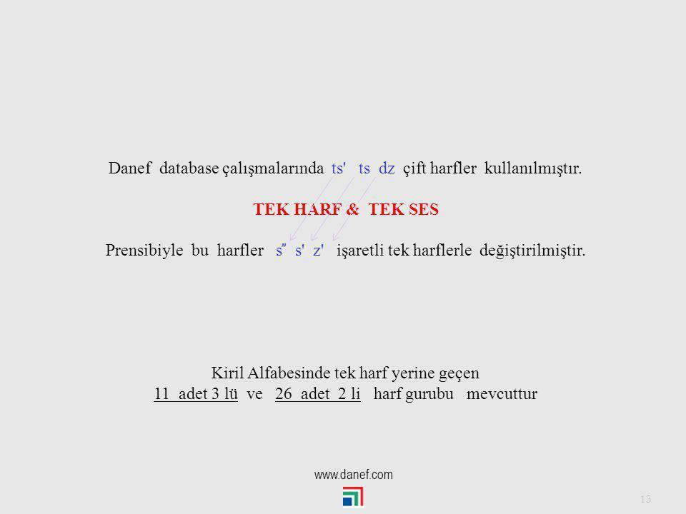 12 Kirilde Tek harf olarak kabul edilen harf grupları vardır.