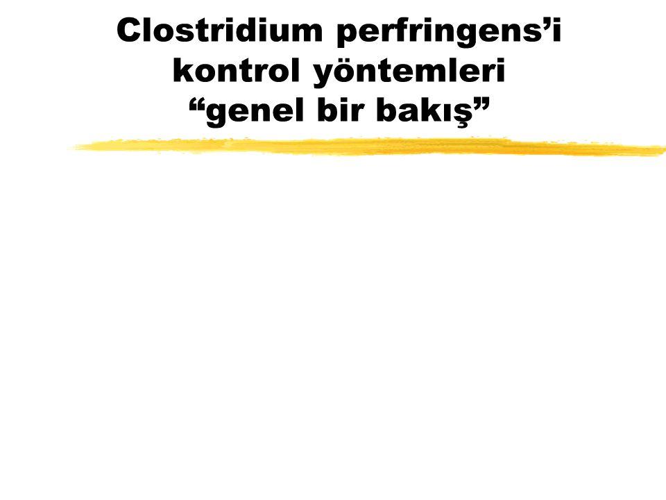 """Clostridium perfringens'i kontrol yöntemleri """"genel bir bakış"""""""