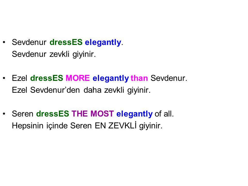Sevdenur dressES elegantly.Sevdenur zevkli giyinir.