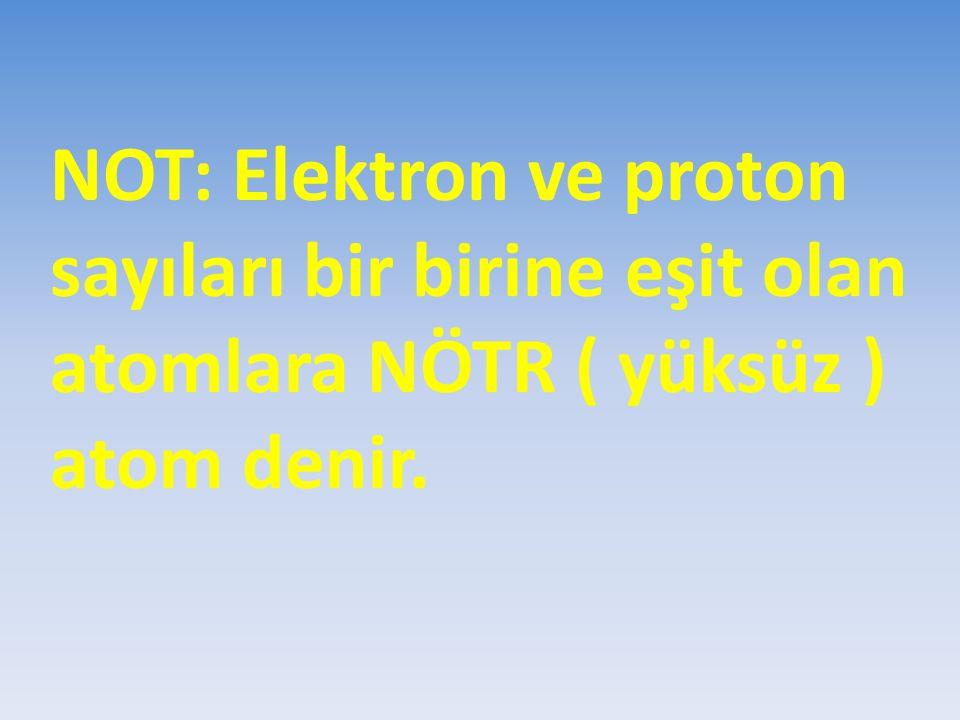 İZOTOP ELEMENTLER Bir elementin bütün atomlarındaki proton sayıları aynıdır.Bir elementi bu değer karakterize der.Fakat bir elementin atomlarında farklı sayıda nötron bulunabilir.