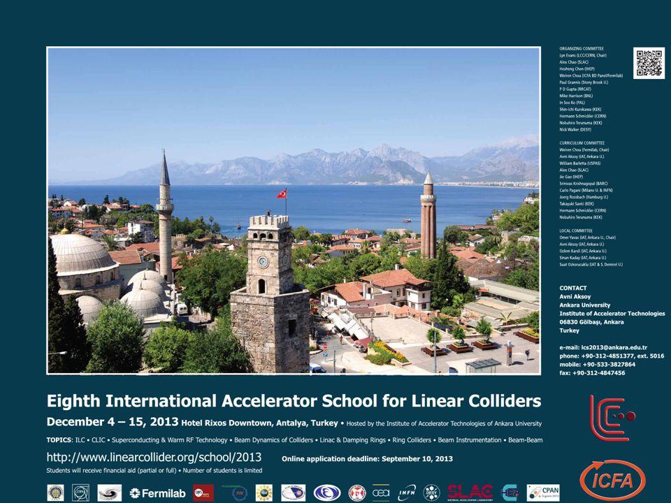 Duyuru 34 VIII. International Accelerator School on Linear Collider http://thm.ankara.edu.tr/lcs2013 Son başvuru tarihi: 25 Eylül 2013