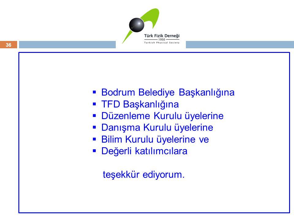 36  Bodrum Belediye Başkanlığına  TFD Başkanlığına  Düzenleme Kurulu üyelerine  Danışma Kurulu üyelerine  Bilim Kurulu üyelerine ve  Değerli kat