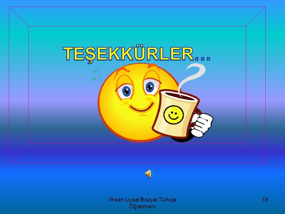 İlksen Uysal BOZYEL/Türkçe Öğretmeni 18 Doğadaki seslerden türetilmiş olan söz- cüklere yansıma sözcükler denir. Aşağıdaki cümlelerin hangisinde,yansı
