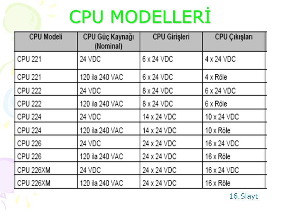 S7 200 CPU 15.Slayt