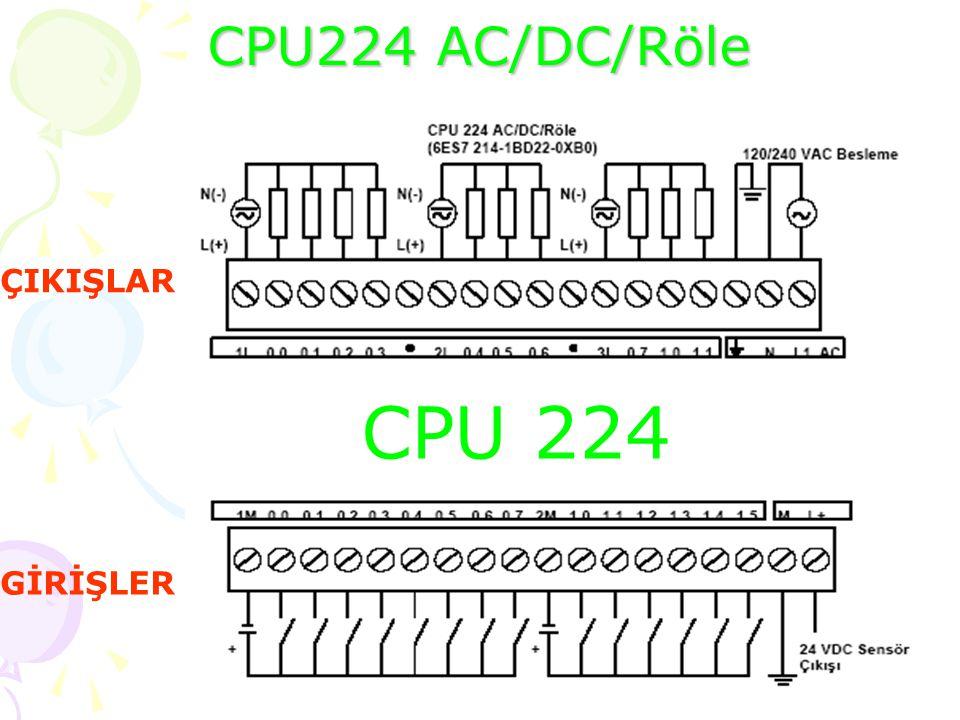 CPU 224 DC/DC/DC CPU 224 GİRİŞLER ÇIKIŞLAR