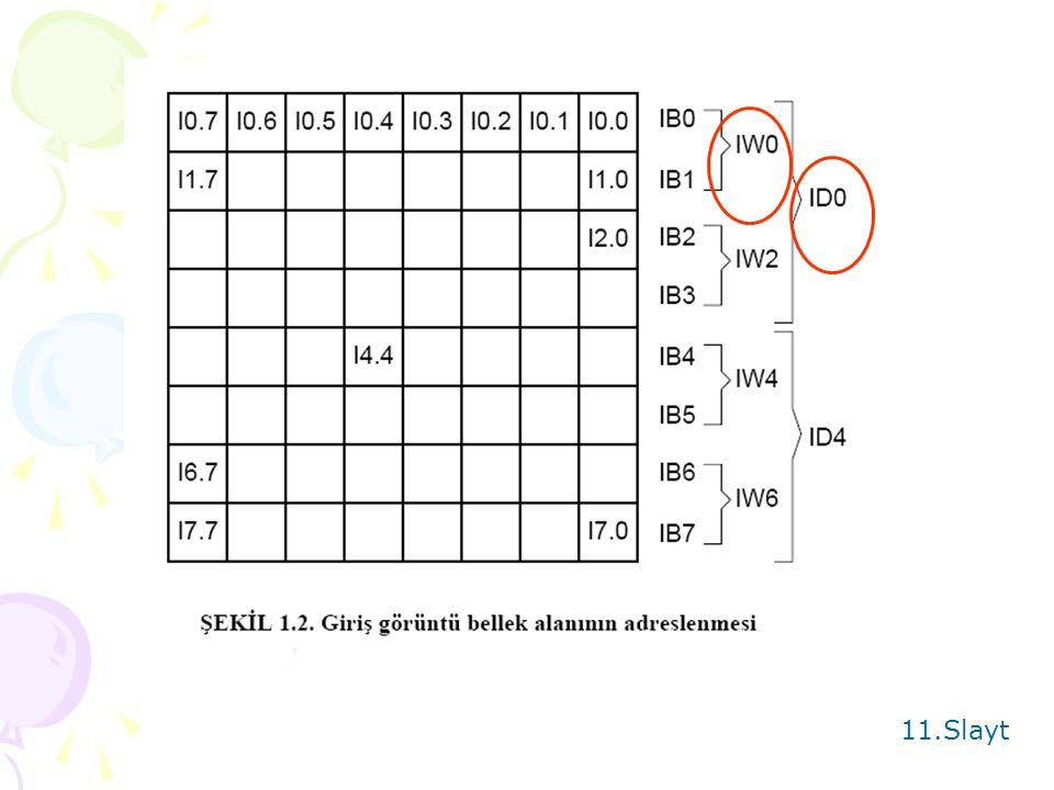 VERİ ALANLARI Hexadesimal 10.Slayt